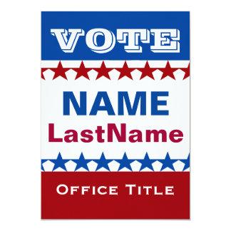 Political Campaign 13 Cm X 18 Cm Invitation Card