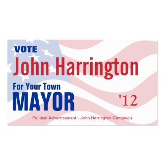 Political Campaign - Mayor Business Card