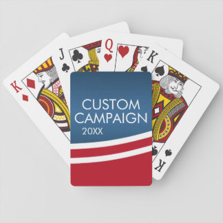 Political Campaign - modern swoop Playing Cards