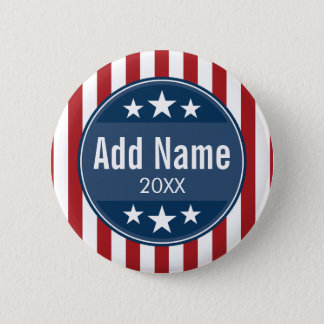 Political Campaign - Patriotic Stars and Stripes 6 Cm Round Badge