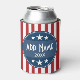 Political Campaign - Patriotic Stars and Stripes Can Cooler