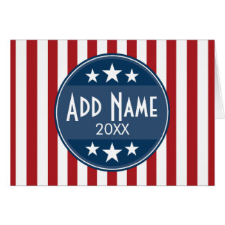 Political Campaign - Patriotic Stars and Stripes Greeting Card