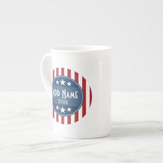 Political Campaign - Patriotic Stars and Stripes Bone China Mug
