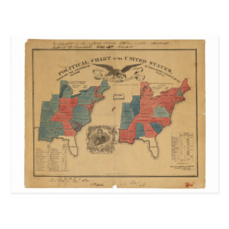 Political Chart of the United States (1840) Post Cards