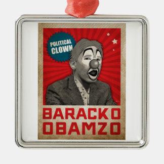 Political Clown Silver-Colored Square Decoration
