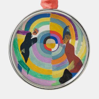 Political Drama, 1914 Silver-Colored Round Decoration