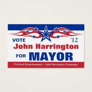 Political Election Campaign Card - Mayor