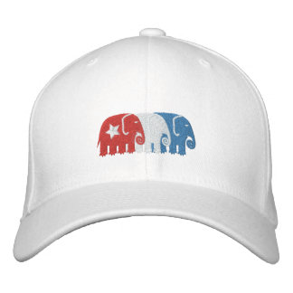 Political Elephants Embroidered Hats