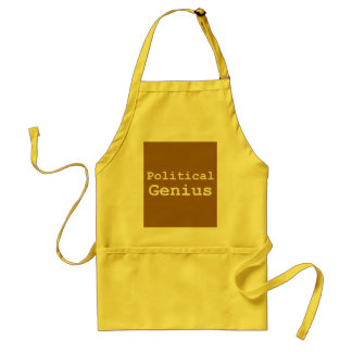 Political Genius Gifts Adult Apron