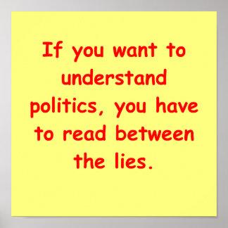 political joke poster
