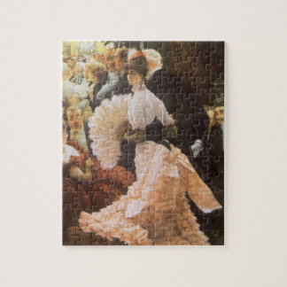 Political Lady by James Tissot, Vintage Victorian Jigsaw Puzzle