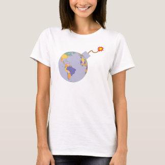 Political Map Earth Globe Bomb T-Shirt