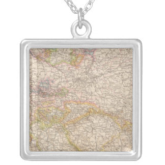 Political Map of Germany Silver Plated Necklace