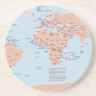 Political Map of the World Beverage Coasters