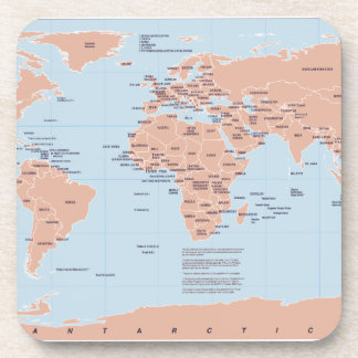 Political Map of the World Drink Coasters