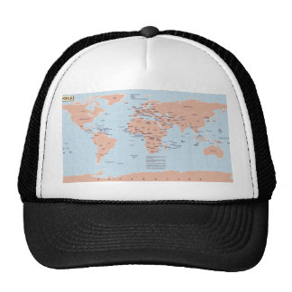 Political Map of the World Mesh Hat