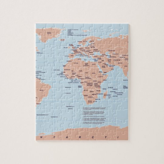 India map jigsaw puzzles zazzle political map of the world jigsaw puzzle gumiabroncs Gallery