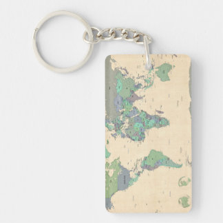 Political map key rings political map key ring designs zazzle political map of the world map key ring gumiabroncs Image collections