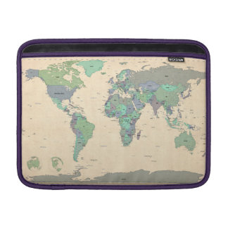 Political Map of the World Map MacBook Sleeve