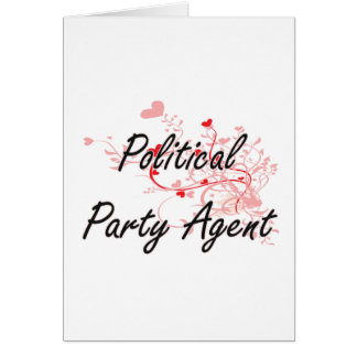 Political Party Agent Artistic Job Design with Hea Greeting Card