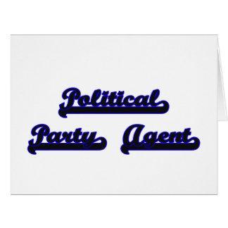 Political Party Agent Classic Job Design Big Greeting Card
