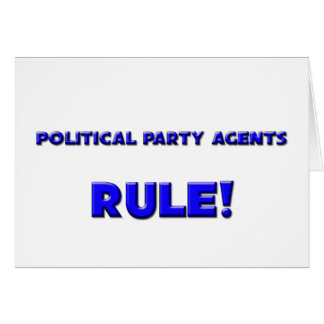Political Party Agents Rule Cards