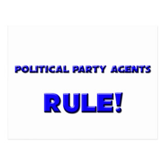 Political Party Agents Rule Post Card