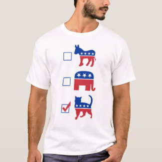 Political Pet Vote Cat T-Shirt