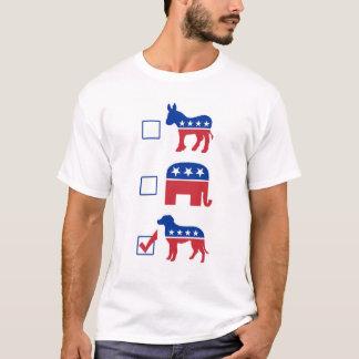 Political Pet Vote Dog T-Shirt