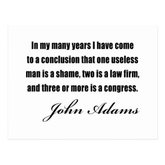 Political quotes by John Adams Postcard