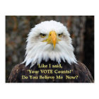 Political Satire American Bald Eagle VOTE Postcard