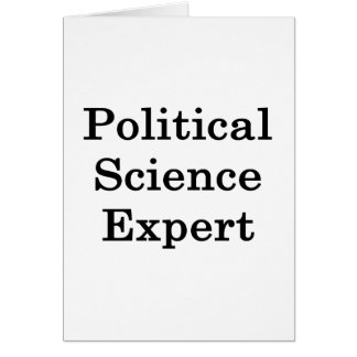 Political Science Expert Greeting Card