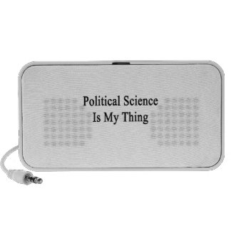 Political Science Is My Thing Notebook Speaker