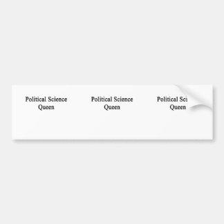 Political Science Queen Bumper Sticker