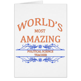 Political Science Teacher Greeting Cards