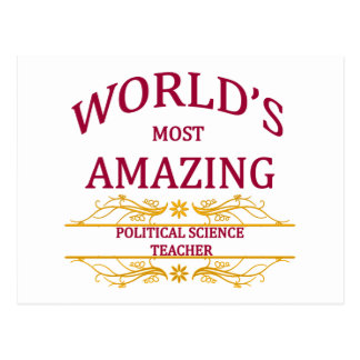 Political Science Teacher Post Card