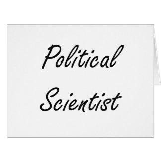 Political Scientist Artistic Job Design Big Greeting Card