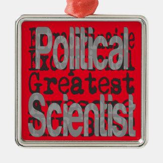 Political Scientist Extraordinaire Silver-Colored Square Decoration