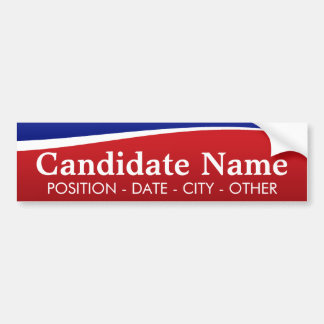 Political Theme - Customise This Bumper Sticker! Bumper Sticker