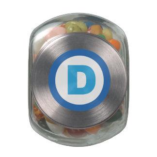 Political Treats Glass Candy Jar