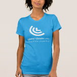 Political Will for a Liveable World Ladies Blue T-Shirt
