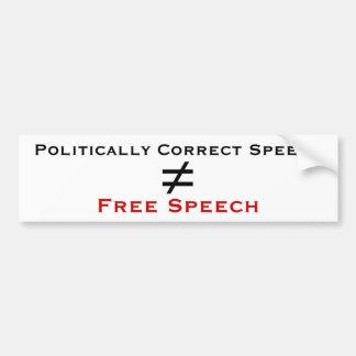 Politically Correct Speech isn't Free Speech Bumper Sticker