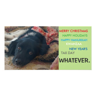 Politically correct xmas holiday christmas card photo greeting card