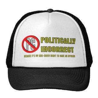 Politically Incorrect Trucker Hats