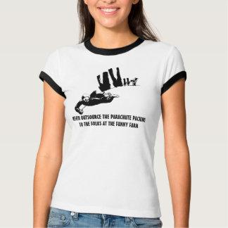 Politically incorrect parachuting tshirt