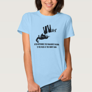 Politically incorrect skydiving tees