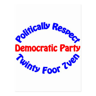 Politically Respect - Democratic Party Postcard