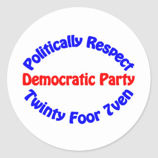 Politically Respect - Democratic Party Stickers