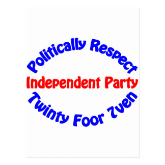 Politically Respect - Independent Party Postcard