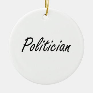 Politician Artistic Job Design Double-Sided Ceramic Round Christmas Ornament